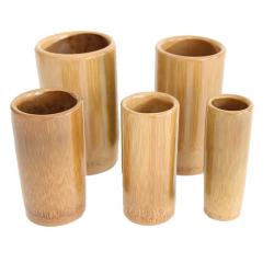 Conjunto de ventosas de bambu