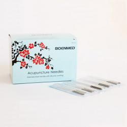 Agulha de acupuntura de cabo de aço inoxidável, 500 pcs por caixa