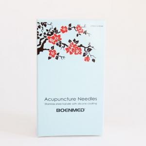 Agulha de acupuntura de cabo de aço inoxidável,1pc por tubo guia