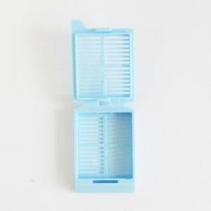 Cassete para Embalagem de Processamento de Biópsias de furos listra