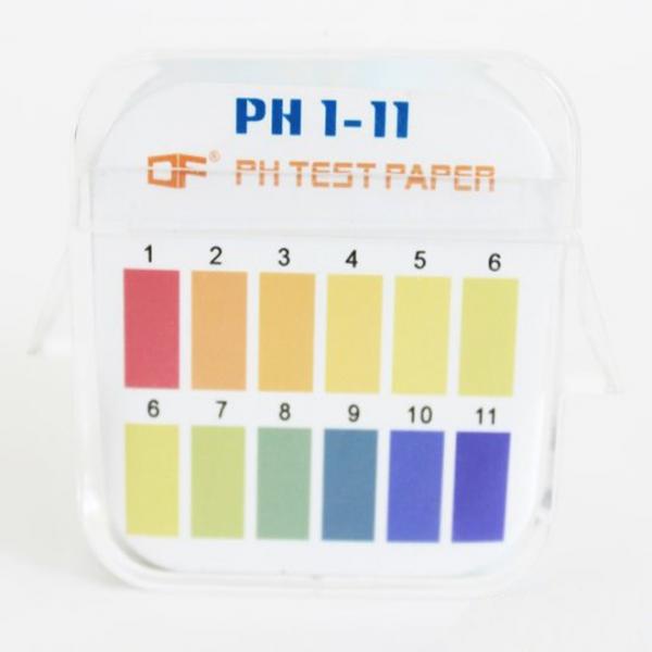 Papel de teste de PH 1-14, duas cores