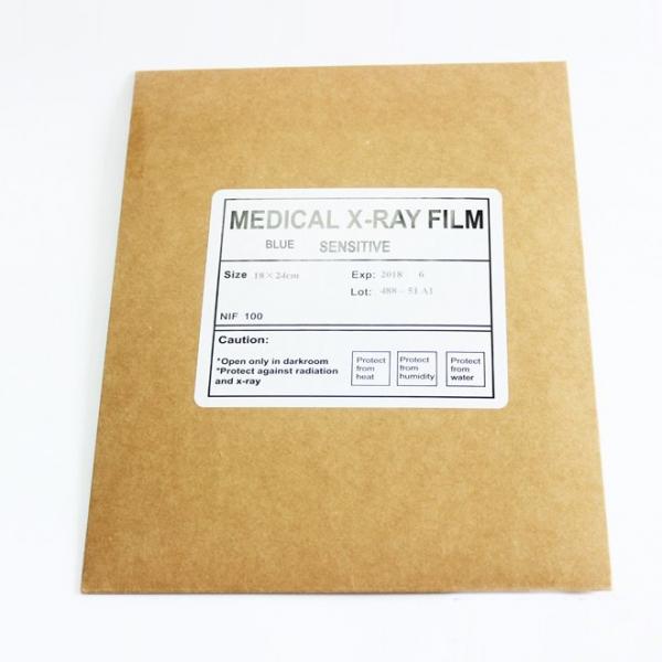 Filme de raio- X médico, azul