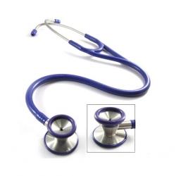 Estetoscópio de aço inoxidável de cabeça dupla de cardiologia